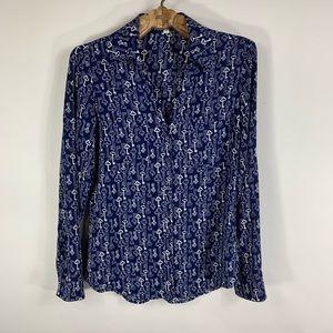 Express Portofino Shirt Blue w White Keys Sz Small